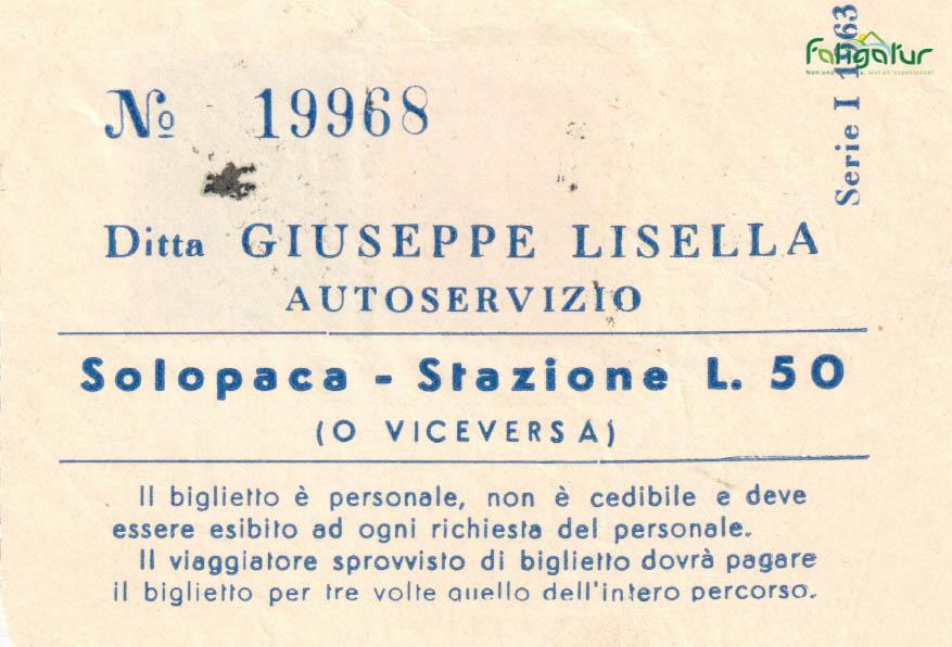 Biglietto bus autoservizio Giuseppe Lisell